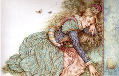 Frog Prince by Anne Yvonne Gilbert ~ fairytale art