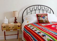 Vintage Furniture made of Old Suitcases, Room Decorating in Vintage Style