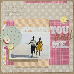 Use Glitter To Spruce Up Your Scrapbooking Page. How pretty!