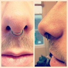 Double Septum Piercing.