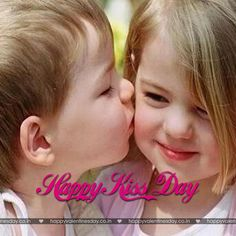 Valentine Day Week, Happy Valentines Day Card, Valentines Day Pictures, Happy Valentine's Day Friend, Happy Kiss Day, Kids Kiss, Easter Greeting Cards, Happy Friendship Day, Cute Texts