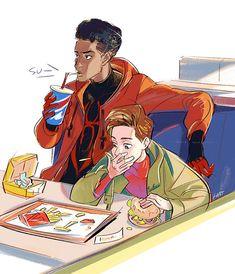 That's Tom Holland's Spidey Marvel Dc, Marvel Fan Art, Marvel Funny, Marvel Memes, Captain Marvel, Comic Character, Character Design, Spiderman Art, Spideypool