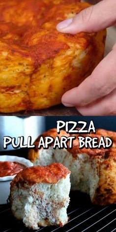Crockpot Pizza Pull Apart Bread will call your name and beg you to pull off a big fat roll slathered in pizza sauce. It's as easy as mixing the ingredients and placing in the slow cooker.