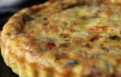 Quiche Sans Pâte au Thon et Champignons WW – Plat et Recette - Erkältung Schnell Loswerden Quiche Recipes, Tart Recipes, Pizza Recipes, Snacks Pizza, Easy Tuna Recipes, Easy Meals, Healthy Recipes, Weight Watcher Desserts, Pasta Carbonara