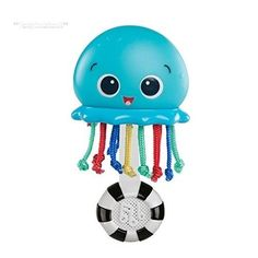 bce111a9cf2455 Keep baby entertained while stimulating sight, sound and touch with the  Ocean Glow Sensory Shaker from Baby Einstein. Your little one will enjoy ...
