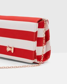 SHOP RED  Sailor meets Valentine s Day with Ted s new striped bag. In  dazzling red 1b74d742fe
