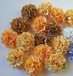 Today is the day when I share how to make the fabulous flowers you have been sneaking a peak at on my blog! Many people thought these flowers were made out of fabric or tissue paper...they are actually made from...
