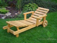 Dřevěné lehátko LAHTI přírodní