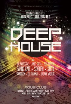 Deep House Flyer by styleWish on Graphicriver (Download the PSD)