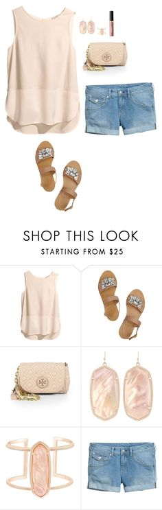 """Summer is coming"" by allysonehayden ❤ liked on Polyvore featuring H&M, J.Crew, Tory Burch, Kendra Scott and tarte"