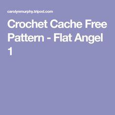 Crochet Cache Free Pattern - Flat Angel 1