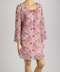 Love this Lady Noiz Red & Purple Paisley Dress - Plus by Lady Noiz on #zulily! #zulilyfinds