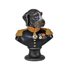"Goebel - Thierry Poncelet - The Great Marshal - Porcelain bust - Porcelain bust ""The Great Marshal"" from the series ""Ancestral Dog Portraits"" by Thierry Poncelet. Height: 17 cm."