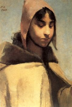 "Helene Schjerfbeck (Finnish, 1862 – 1946) ""French Peasant Girl"", 1883"