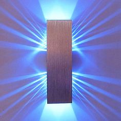 2W Modern Led Wall Light with Scattering Light Design 2 Cubic Shades – USD $ 24.99