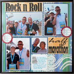 Half Marathon scrapbook page
