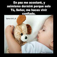EN PAZ ME ACOSTARE Y ASI MISMO DORMIRE, PORQUE SOLO TU JEHOVA, ME HARAS DORMIR CONFIADO SALMO 4:4-8