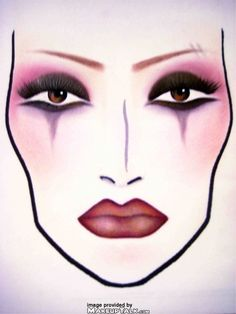 MAC face charts makeup inspiration for Halloween. I have wanted to ...