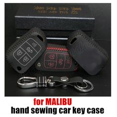hot sale new Car key case fit for CHEVROLET MALIBU leather car key case Hand sewing car key cover DIY