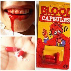 Spray Blood pills amazing Toy Gift Joke Prank Trick Fun joke April Fool's Day special present TOY creative gift Brandnew gifts