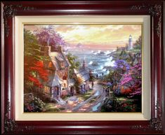 Home Decor Thomas Kinkade Buy Painting Prints The Mountain Chapel Canvas Classic Bed Headboard Canvas Painting Wall Living Room Clearance Price