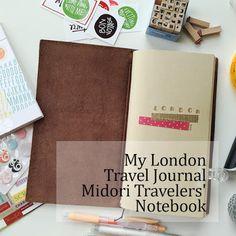 Simply Yin London Travel Journal Midori Travelers' Notebook