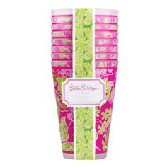 Perfect for a Lilly Party! Plus, they're plastic, so they're great for outdoor entertaining!