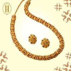 These floral vines tell fascinating tales of #Gold. #HazoorilalLegacy #Hazoorilal #Jewelry #Necklace #Earrings Gold Jewellery Design, Gold Jewelry, Jewelery, Gold Bangles, Jewelry Necklaces, Neck Chain, Wedding Jewelry, Wedding Gold, Gold Flowers