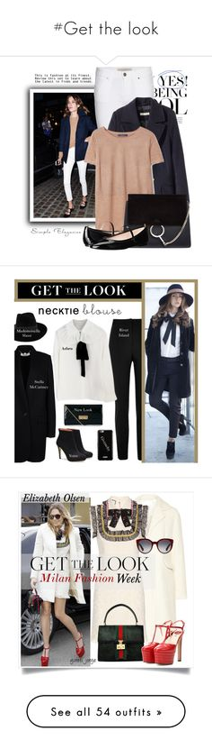 """""""#Get the look"""" by lolgenie ❤ liked on Polyvore featuring Burberry, H&M, Violeta by Mango, Chloé, SJP, River Island, Givenchy, New Look, Mademoiselle Slassi and STELLA McCARTNEY"""