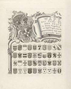 Wapenkaart van oude geslachten van Utrecht, blad linksboven, Johannes van Hiltrop, 1769. A - C