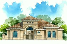 Watercolor Architectural Elevation