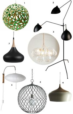 7 Lights for an Organic Modern Look Decor Style Source List