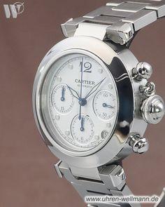 Cartier Pasha C, Referenznummer: 2412, Chronograph, Gehäusematerial: Stahl (4462) -- www.uhren-wellmann.de --