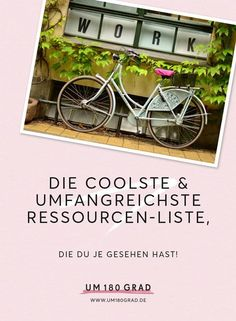 Die coolste, umfangreichste & hilfreichste Ressourcen-Liste, die Du je gesehen hast! #onlinebusiness #tools #femininjas via @um180grad