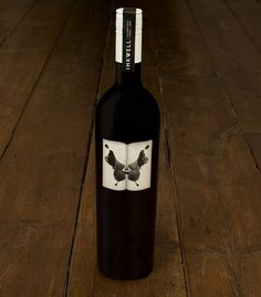 The crew at /M/A/S/H/ was hired to rejuvenate Inkwell's label design and brand identity, and this bottle was precisely what the wine maker needed. If you can find a bottle of Inkwell's 2007 Shiraz, it wears this label proudly. Wine Bottle Art, Wine Bottle Labels, Wine Bottles, Wine Label Design, Bottle Design, Wine Packaging, Packaging Design, Drink Labels, In Vino Veritas