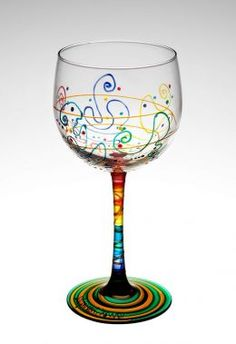 Abstract idea for painting wine glasses