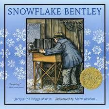 SNOWFLAKE BENTLEY writing mentor text for organization, leads, sensory words, figurative language, vivid verbs, description, specificity.