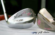 SpinMax wedge Pink stamp PMJ GOLF STUDIO