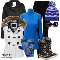Frugal Fashion Friday Let It Snow Outfit. Winter Fashion. Winter Outfit for the Snow.