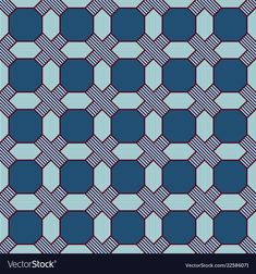 Seamless geometric pattern in blue vector image on VectorStock