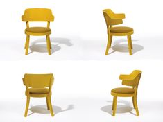 seley, a light and small armchair designed by Swiss Designer Frédéric Dedelley for horgenglarus, looks nice from all angles and specially in yellow but also in other colours or in plain wood. All Angles, How To Look Better, Armchair, Colours, Yellow, Nice, Wood, Furniture, Design