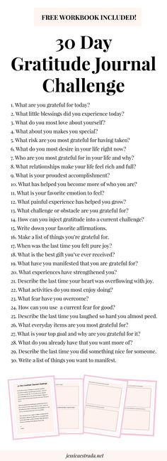 stepping up your gratitude practice for increasing joy, happiness, success, and abundance in your life. Grateful Quotes Gratitude, Gratitude Challenge, Journal Challenge, Attitude Of Gratitude, Happiness Challenge, Gratitude Ideas, Bullet Journal 30 Day Challenges, Tips For Happiness, Gratitude Tattoo
