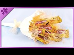 tutorial cara membuat snack bucket wisuda | how to make snack bouquet - YouTube