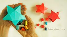 Origami tutorial to make a Star Box. Perfect for a Christmas gift! SUBTÍTULOS EN ESPAÑOL With permission of designer David Brill. • Leyla Torres Origami Spir...
