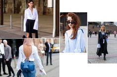 Street style trend: Tricked-up shirting - HarpersBAZAAR.com