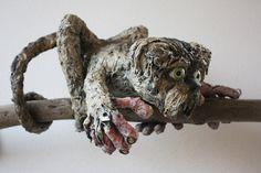 Hundemaki  aus Papiermache bzw. Clothmache von Britta Reithmeier