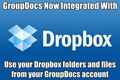GroupDocs now integrated with #Dropbox