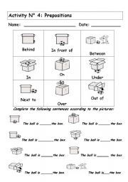 preposition worksheets in on under  google search  education  english worksheet prepositions