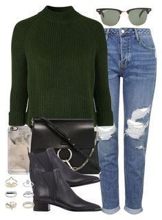"""""""Untitled #3330"""" by hellomissapple on Polyvore featuring Topshop, Ray-Ban, Casetify, Chloé and Acne Studios"""