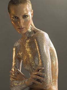 Glitter skin (If only we sparkled like this) #Shiny #glitter #Twinkle